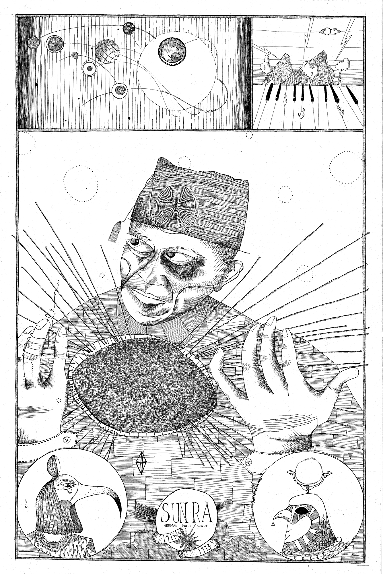 Portrait of Sun Ra